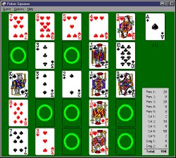 Poker Squares Solitaire