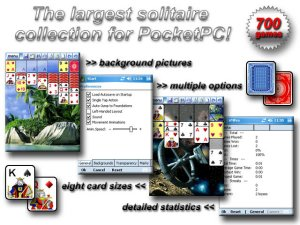 Solitaire Mania Pro for Pocket PC