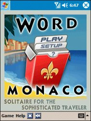 Word Monaco Solitaire for Pocket PC