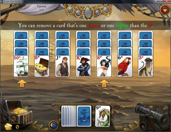 Seven Seas Solitaire screen shot