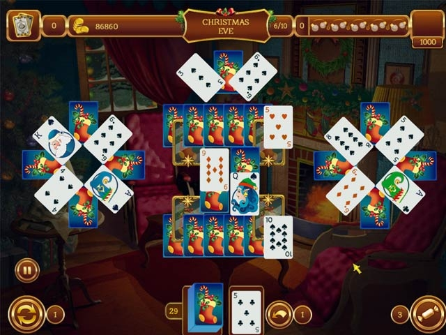 solitaire game christmas for windows screen shot 1 - Solitaire Christmas