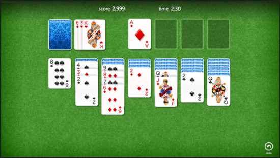 Windows 8 Solitaire Preview